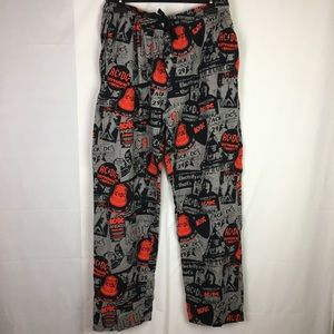 Other - AC/DC Cotton Lounge Pants | Novelty Pajamas XL